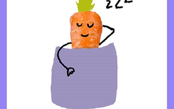 Fitgaaf, wortel, slaap. kind, gezond, leefstijl, onthouden, beter slapen, slapen, slaapprobleem