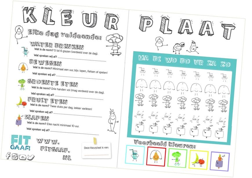 gezondbelonen gezond kind kleurplaat