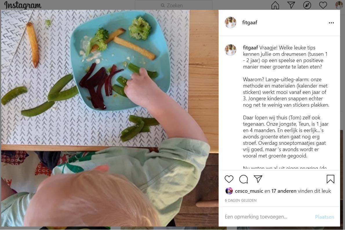 groente eten dreumes